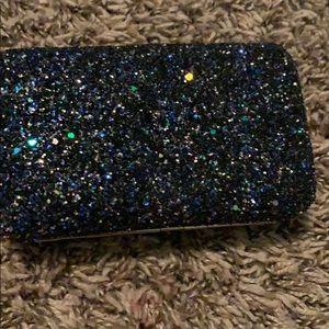 small glitter clutch